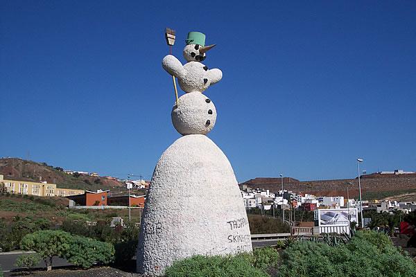 muñeco nieve tenerife