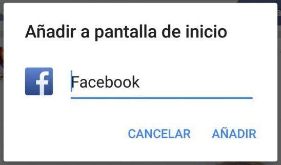facebook acceso directo