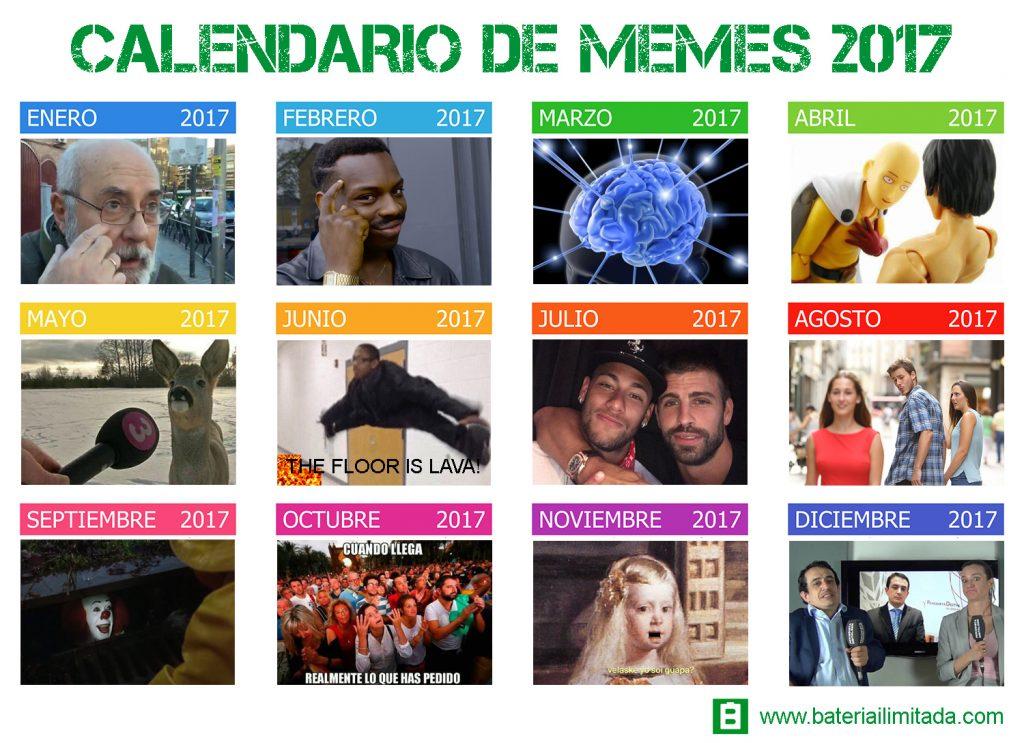 Calendario de memes 2017